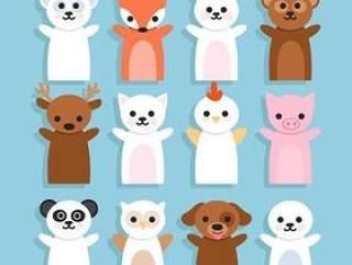 可爱的小动物图标设计