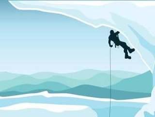 高山登山者