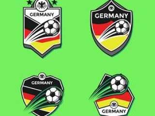 德国足球俱乐部补丁矢量