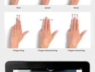 触摸屏操作手势