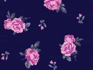 可爱的花纹理背景设计图案打印。