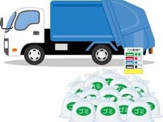 垃圾收集车辆垃圾收集的地方