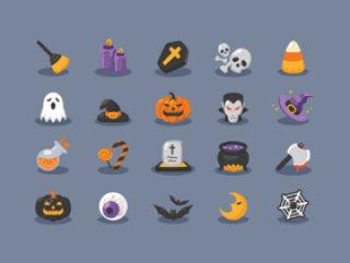 halloween-icons 万圣节扁平图标