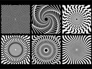 螺旋单色几何元素