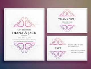 婚礼卡邀请设计与感谢卡