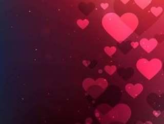 情人节矢量设计插画的心背景