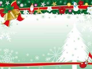圣诞冬青和贝尔和丝带框架