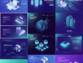 22款2.5科技感电脑手机未来插图UI设计毕业作品作业AI矢量分层素材