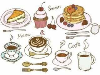 咖啡厅菜单真正的颜色