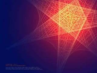 抽象的发光线条背景设计