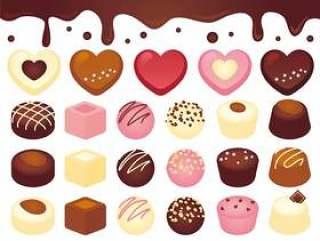 很多巧克力