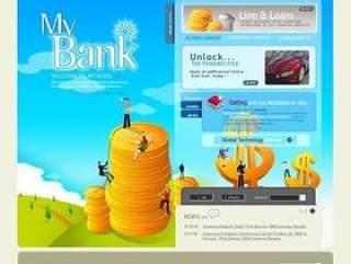 韩国理财网站网页模板