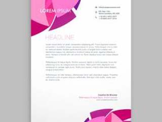 抽象业务信纸设计模板矢量设计点检
