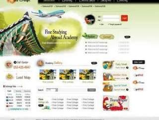 旅游网站模板PSD分层(06)