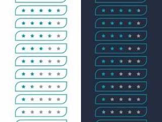 最小的星级评分图标设计的网站或应用程序