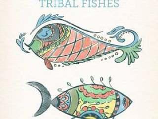彩绘花纹鱼类