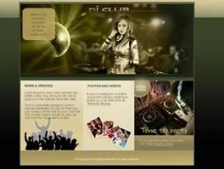 国外音乐DJ网站PSD分层素材
