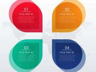 四个选项信息图表设计在聊天泡沫样式的业务