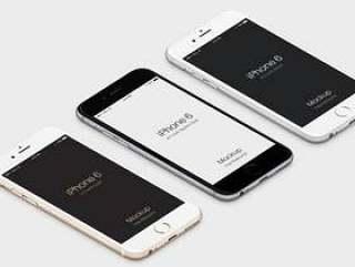3D查看iPhone 6 Psd矢量模拟