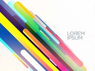 抽象的彩色斜条纹背景