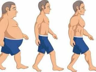 男子减肥阶段进展