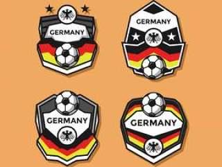 德国足球补丁矢量