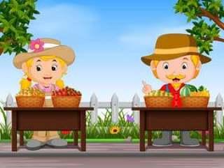 农民出售新鲜水果