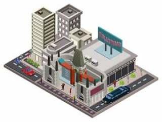 中国剧院等轴测图