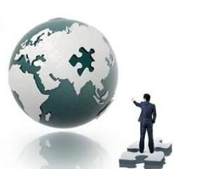拼图地球商务psd分层素材