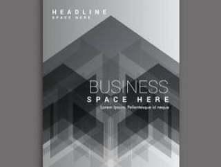 黑色抽象商业杂志封面模板