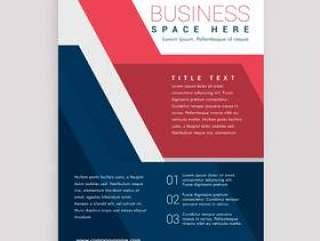 红色和蓝色的几何宣传册设计模板封面设计安