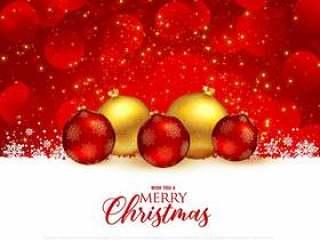 美丽红色圣诞节节日问候与保费的背景