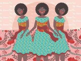 国际妇女节的插图6矢量