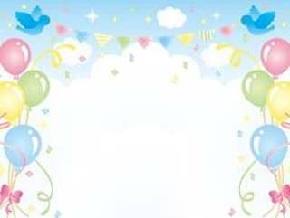 天空和气球框架