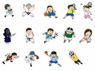 体育人物插图集