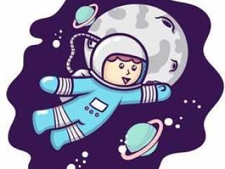 可爱的宇航员