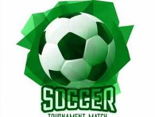 抽象的绿色足球足球比赛体育背景