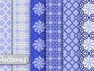 蓝色装饰图案集