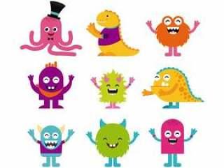 生日聚会中的怪物角色