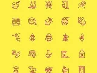 矢量线性图标 下载 Nasty-Icons