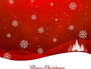 圣诞快乐的红色问候