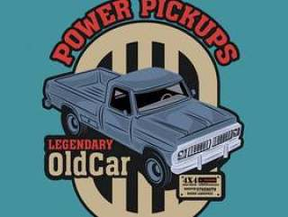 Classic pickup car with a study engine