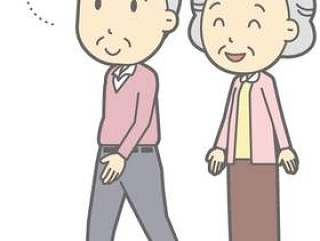 老夫妇-歩く-全身