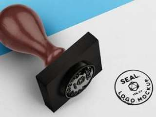 Psd木墨印章邮票模型