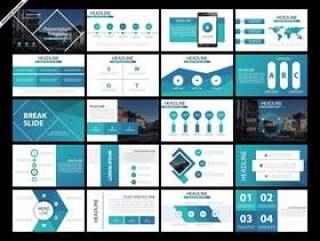 20个EPS界面PPT模板演示文稿幻灯片模板集矢量素材下载