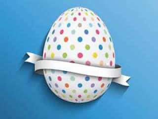 圆点复活节彩蛋背景