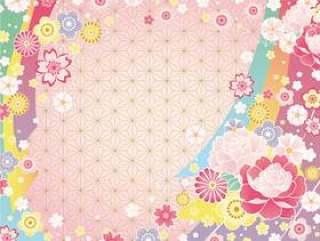 日本图案背景(粉红色)02