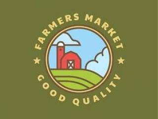 农民市场徽标