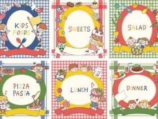 孩子们和食物框架