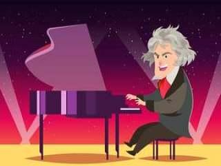 作曲家路德维希·范·贝多芬